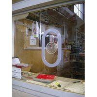 Durchsprecher für 4 - 6 mm Glasstärke, 170 x 295 mm, Kunststoff hellgrau