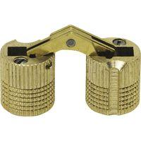 Exakt Einbohr-Scharnier Bohr ø 24 mm, Holzstärke 31-40 mm, Messing blank
