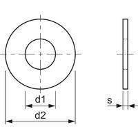 Karosseriescheibe M10x25 verzinkt (Kotflügelscheibe)