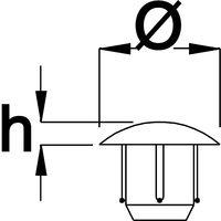 TD1 Türanschlagdämpfer zum Einbohren, Ø8 x 1,5 Bohrmaß: ø5 x 6, braun
