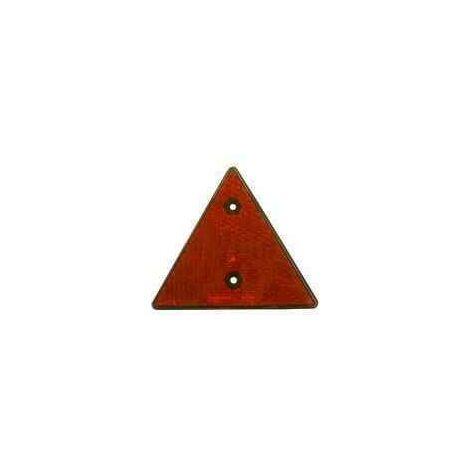 Catadioptre triangulaire rouge pour caravane et remorque