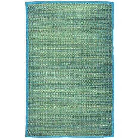 UNITED - <p>Tapis en jonc de mer bleu 70x110</p> - Bleu