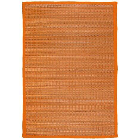 UNITED - <p>Tapis en jonc de mer orange 70x110</p> - Orange