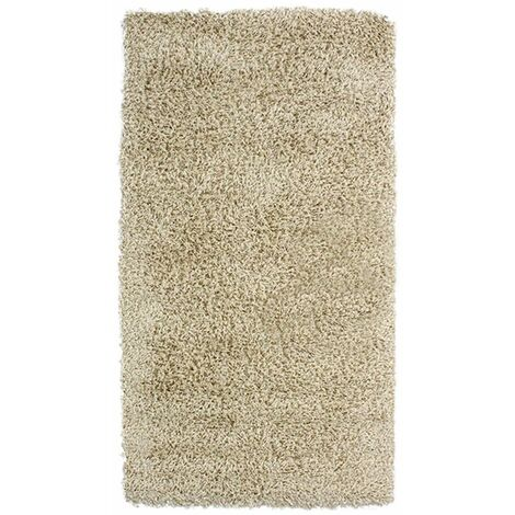 TENESSEE - <p>Tapis à poils longs toucher laineux écru 80x150</p> - Beige