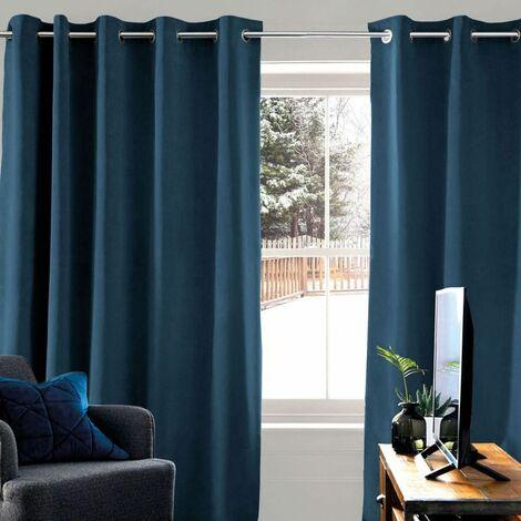 THERMIQUE - <p>Rideau thermique bleu 140x250</p> - Bleu