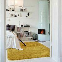 NUAGE - <p>Tapis à poils longs extra-doux jaune foncé 160x230</p> - Jaune