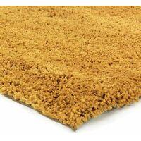 COCOON - <p>Tapis à poils longs extra-doux jaune 60x90</p> - Jaune
