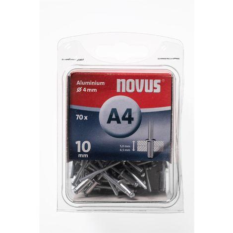 70 Novus Aluminium Blindnieten Ø4 mm, 10 mm,Typ A4/10mm Nr.: 045-0033