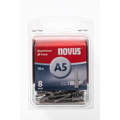 70 Novus Aluminium Blindnieten Ø5mm, 8 mm,Typ A5/8mm Nr.: 045-0047