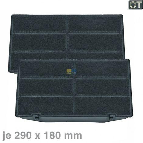 2x Bauknecht Whirlpool Aktivkohlefilter, Kohlefilter 290x180mm AMC962 - Nr. 481249038015