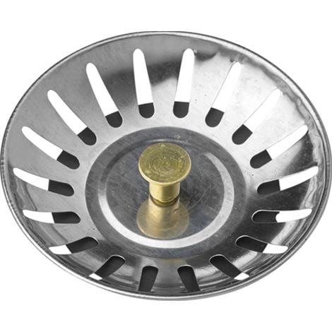 sostituzione dei tappi di scarico per filtro a doppia funzione YMWALK tappo per filtro per lavello in acciaio inossidabile diametro: 84 mm Filtro per lavello da cucina