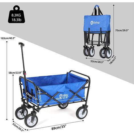 Bollerwagen Faltbar Handwagen zusammengeklapptbar Gartenwagen Handwagen Trolley