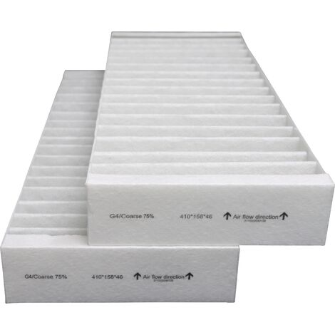 Filtres compatibles VMC DANTHERM HCV500 (2 pièces) - contenu : 2 G4