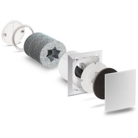 Kit VMC entrée d'air ALD LUNOS - longueurtube : 500mm - grilleintrieure : standard