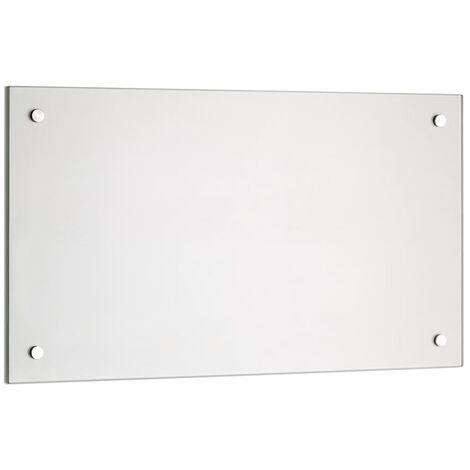 trempé transparent cuisine mur arrière rétroviseur carrelage miroir de protection murale tuile de cuisine verre transparent - 90x40CM