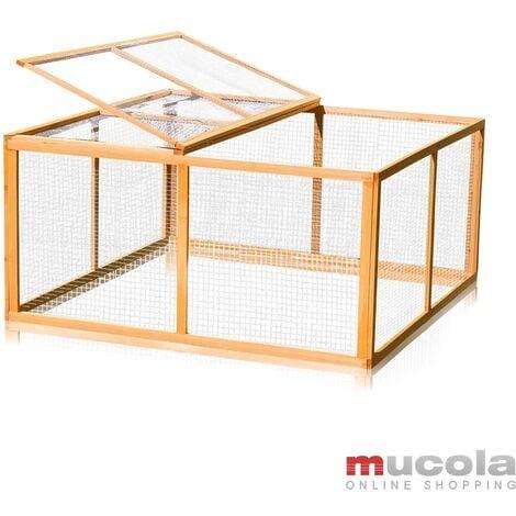 cage à lapin petit animal huche à bois enclos extérieur libre XXL