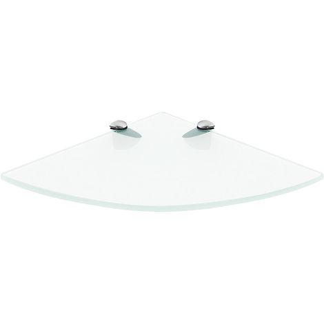 support d'étagère verre clair 250x250mm étagère de salle