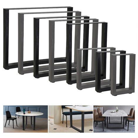 2 x Pieds de table 90 x 72 cm noir acier table basse pour salle à manger//bureau
