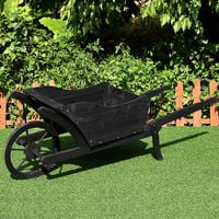 Brouette jardinière brouette en bois brouette décorative brouette fleurie jardinière noir