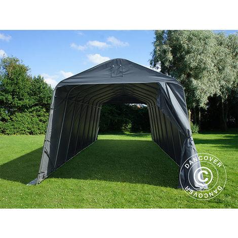 Tente Abri Voiture Garage PRO 3,77x9,7x3,18m PVC, Gris