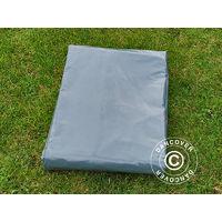 Bâche 5x7m, PVC 500g/m², Gris