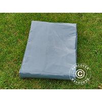Bâche 6x10m, PVC 500g/m², Gris