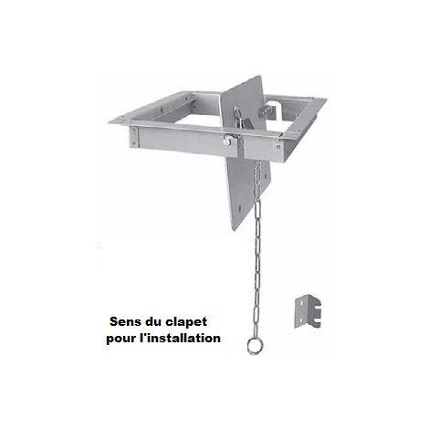 Clapet de fumées à chaînette pour cheminée ouverte | 250x250