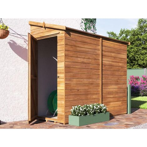 3 Sided Pent Shed Anya Right 8x4 - Pressure Treated Shiplap Cladding Garden Storage Lean to Bike Shed