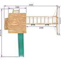 Climbing Frame MaxiFort Frontier - Playhouse Pressure Treated Wood Slide Swing Set Monkey Bars Play Den