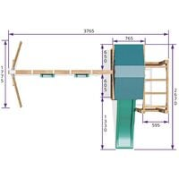 Climbing Frame JuniorFort Monkey - Wooden Playset with Swings and Slide Monkey Bars