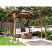 Wooden Gazebo Erin W2.5m x D2.5m - Garden Shelter Pressure Treated Hot Tub Pavilion with Roof Felt