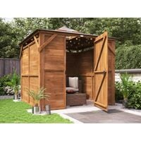 Wooden Gazebo Erin W2.5m x D2.5m - Enclosed Solid Wall Panels Garden Shelter Pressure Treated Hot Tub Pavilion with Roof Felt