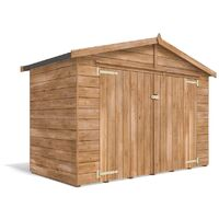Bike Shed Ariane 2m x 1m - Outdoor Fully Pressure Treated Timber Garden Bicycle Storage With Pre-Fixed Roof Felt