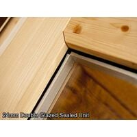 Insulated Garden Log Cabin WarmaLog Severn 5m x 3m Man Cave Home Office Summer House Double Glazing Toughened Glass