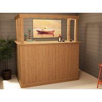 Corner Bar Counter Man Cave Home Bar Party Barware Wood Summer Cabin