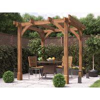Wooden Pergola Garden Shade Plant Frame Furniture Kit - Atlas 2.3m x 2.3m