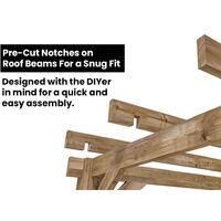 Wooden Pergola Garden Shade Plant Frame Furniture Kit - Atlas 3m x 3m