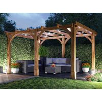 Wooden Pergola Garden Shade Plant Frame Furniture Kit - Atlas 4m x 3m