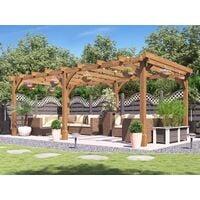 Wooden Pergola Garden Shade Plant Frame Furniture Kit - Atlas 6m x 3m