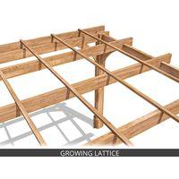 Wooden Pergola Garden Shade Plant Frame Furniture Kit - Artemis 5m x 3m
