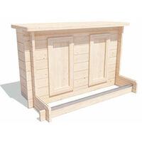 Utopia Garden Bar Gazebo W4m x D3m - Heavy Duty Garden Shelter with Log Bar Included