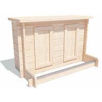 Atlas Garden Bar Gazebo W3m x D3m - Heavy Duty Garden Shelter with Log Bar Included
