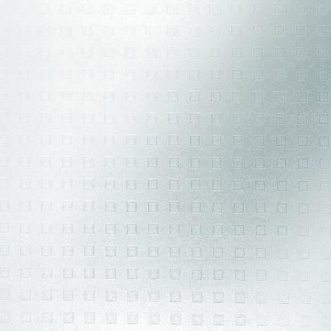 Adhésif décoratif pour vitre Carrés opaque 200 x 67,5cm Blanc