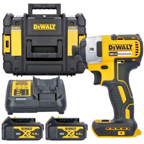 Dewalt DCF887N 18V XR Impact Driver With 2 x 4.0Ah Batteries, Charger & T-Stack Case