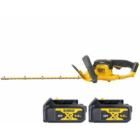 DeWalt DCM563 18V XR Hedge Trimmer Cutter With 2 x 4.0Ah Batteries