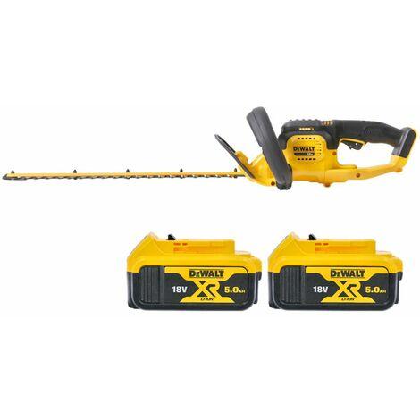 DeWalt DCM563 18V XR Hedge Trimmer Cutter With 2 x 5.0Ah Batteries