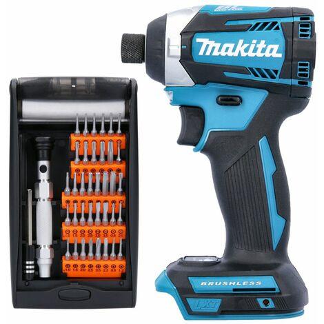 Makita DTD154 18V Brushless Impact Driver With 38 Pcs Multi-Purpose Screwdriver Bit