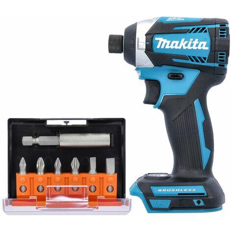 Makita DTD154 18V Brushless Impact Driver With 7 Pcs 25mm Long Screwdriver Bits Set