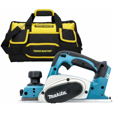 """Makita DKP180 18V LXT Cordless 82mm Planer With 16"""" 27 Pockets Tool Bag With Strap"""