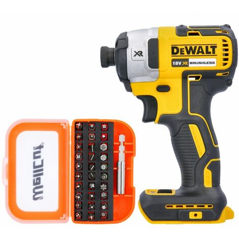 Dewalt DCF887N 18V XR Brushless Impact Driver With 31 Piece Screwdriver Bit Set